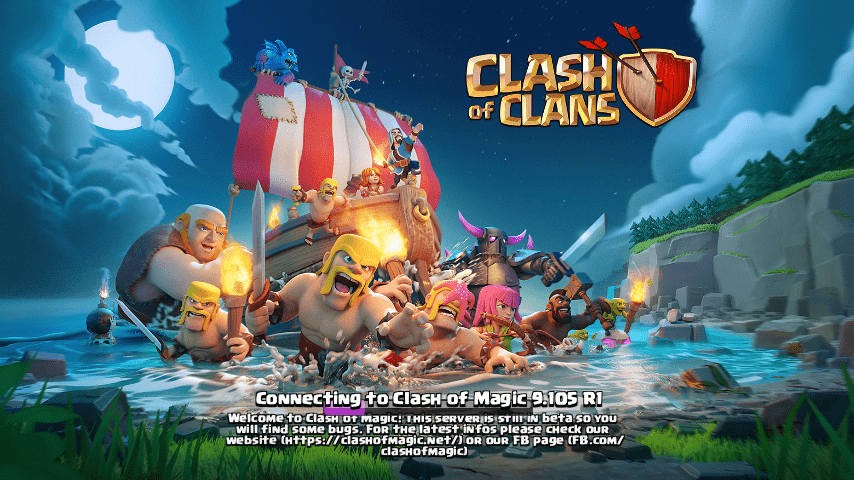Clash Of Magic – CoC Private Server MOD APK v9.434.4 (Unlimited All/S1/S2/S4)